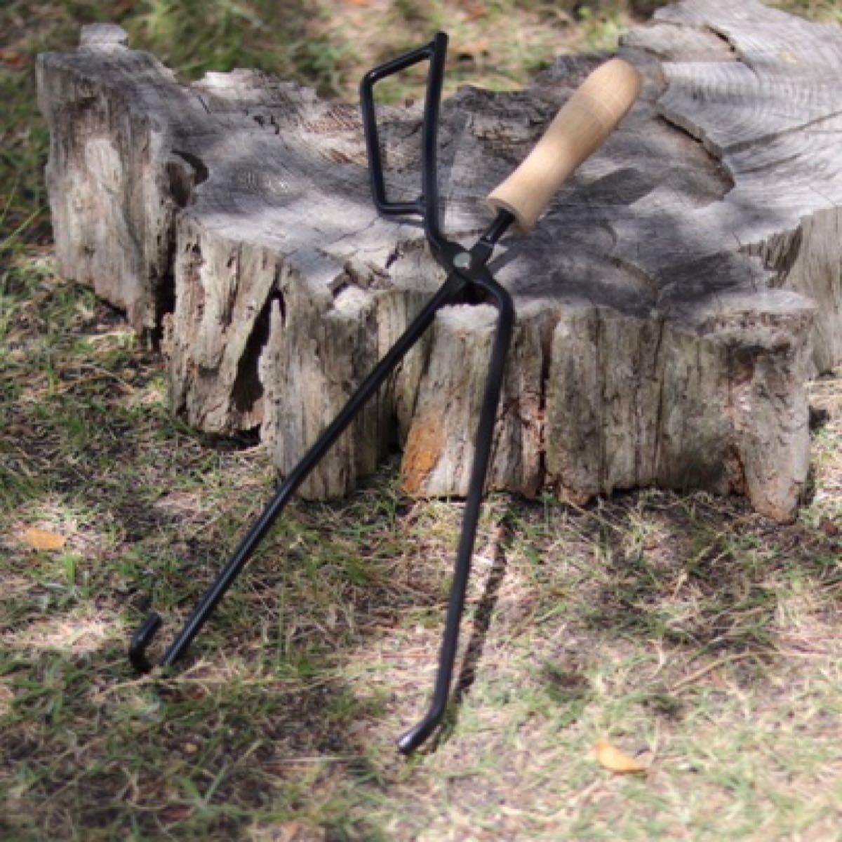 薪ばさみ 火ばさみ 焚き火 ソロキャンプ キャンプ アウトドア