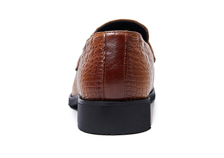 タッセルローファー ビジネスシューズ メンズ 紳士靴 シューズ カジュアル ワニ柄 スリッポンドライビングシューズ ブラウン 上質_画像7