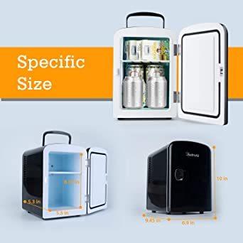 03ブラック AstroAI 冷蔵庫 小型 ミニ冷蔵庫 小型冷蔵庫 冷温庫 4L 小型でポータブル 化粧品 家庭 車載両用 保温_画像2