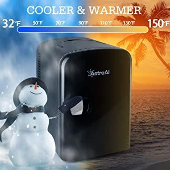 03ブラック AstroAI 冷蔵庫 小型 ミニ冷蔵庫 小型冷蔵庫 冷温庫 4L 小型でポータブル 化粧品 家庭 車載両用 保温_画像3