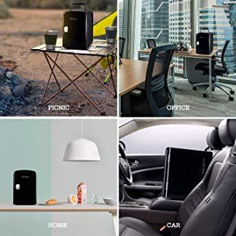 03ブラック AstroAI 冷蔵庫 小型 ミニ冷蔵庫 小型冷蔵庫 冷温庫 4L 小型でポータブル 化粧品 家庭 車載両用 保温_画像7