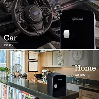 03ブラック AstroAI 冷蔵庫 小型 ミニ冷蔵庫 小型冷蔵庫 冷温庫 4L 小型でポータブル 化粧品 家庭 車載両用 保温_画像4
