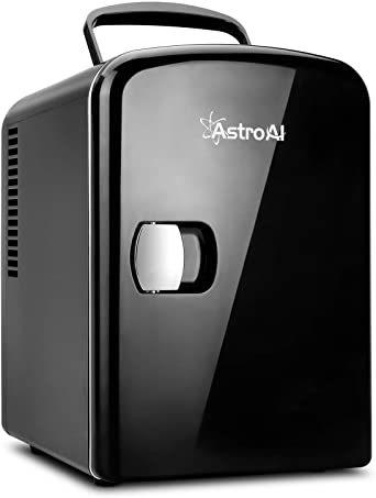 03ブラック AstroAI 冷蔵庫 小型 ミニ冷蔵庫 小型冷蔵庫 冷温庫 4L 小型でポータブル 化粧品 家庭 車載両用 保温_画像1