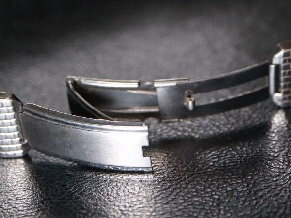 19㎜ シルバー 直かん / デッドストック 1930-40's JB Champion アンティーク ジェービー SS 9連 メッシュ ブレス / ROLEX OMEGA 用に!_画像7