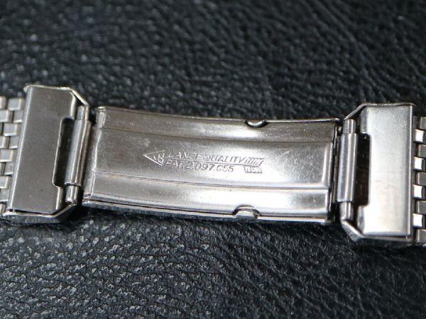 19㎜ シルバー 直かん / デッドストック 1930-40's JB Champion アンティーク ジェービー SS 9連 メッシュ ブレス / ROLEX OMEGA 用に!_画像6