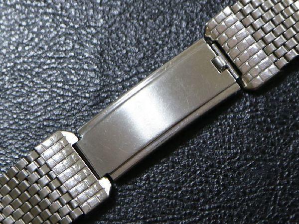 19㎜ シルバー 直かん / デッドストック 1930-40's JB Champion アンティーク ジェービー SS 9連 メッシュ ブレス / ROLEX OMEGA 用に!_画像5