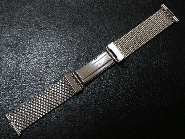 19㎜ シルバー 直かん / デッドストック 1930-40's JB Champion アンティーク ジェービー SS 9連 メッシュ ブレス / ROLEX OMEGA 用に!_画像3