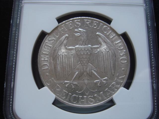 ●★/NGC/MS-62/ドイツ 5マルク銀貨(GRAF ZEPPELIN)/1930年/未使用/★●