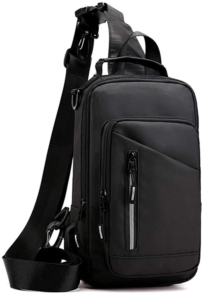 ボディバッグ メンズ 斜めがけ ショルダーバッグ 通学 大容量 iPad収納 ワンショルダーバッグ 防水 USBポート付き