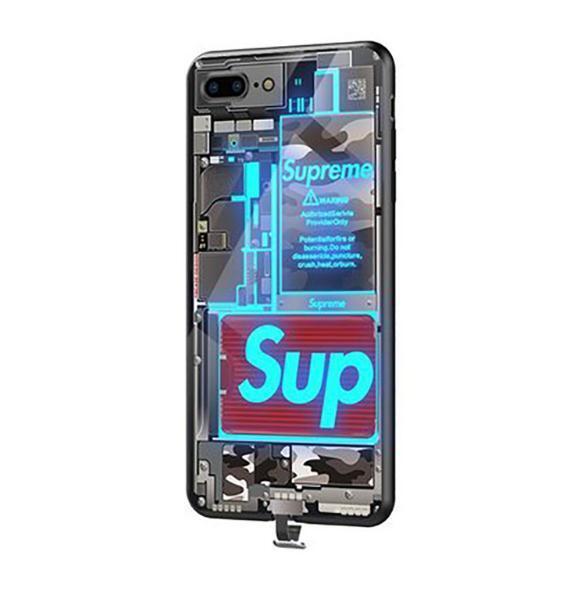 送料0円 当日発送 iPhoneXR/11 Pro Max 強化ガラス 着信 光るケース【音楽、着信で光る】人工知能 落札後サイズを教えて下さい_画像2