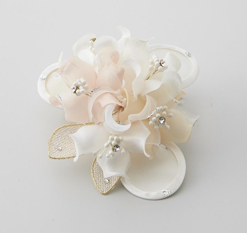日本製 コサージュ 卒業式 入学式 入園式 結婚式 ブローチ お花 立体 フラワー ストーン ビーズ使い フォーマル 301-94_画像1