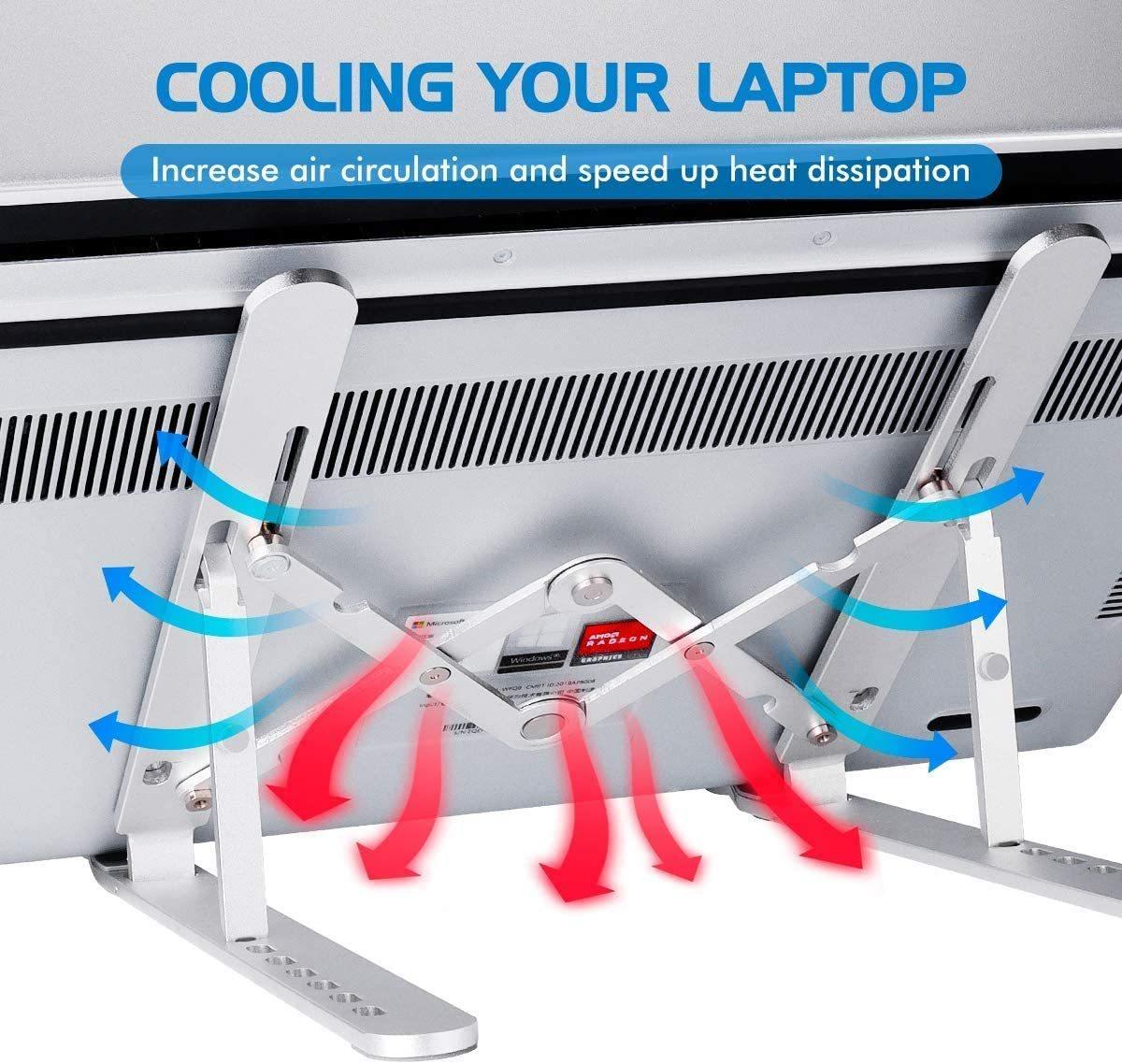 ノートパソコンスタンド PCスタンド タブレットスタンド 人間工学設計 無段階高さ調整 7段階
