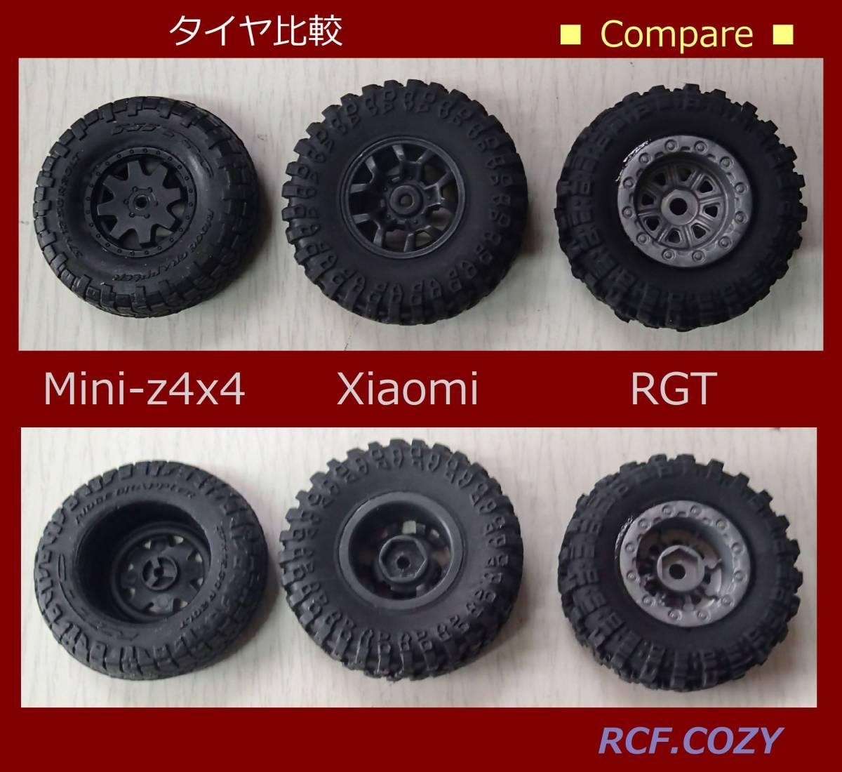 クローラー 用 タイヤ RGT 1/24 ホイール色 グレー (検索 adventure 1:24 mini-z 4x4 ミニッツ4x4 ecx ftx d90 ラングラー camel jeep)