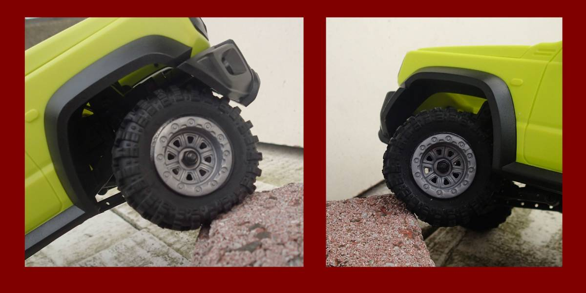 RGT 1/24 クローラー 用 タイヤ ■ ホイール色 グレー (検索 adventure 1:24 mini-z 4x4 ミニッツ4x4 ecx ftx d90 ラングラー camel jeep)