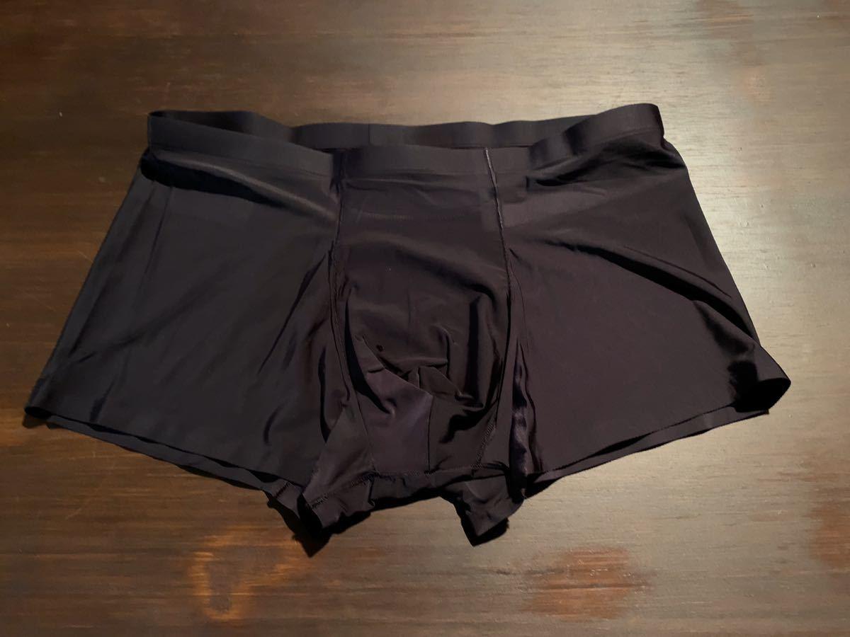 【新品】ボクサーパンツ メンズ シームレスパンツ 高級 肌にぴったり ブラック Lサイズ(Mサイズ相当) 3D立体 蒸れない ボクサーブリーフ