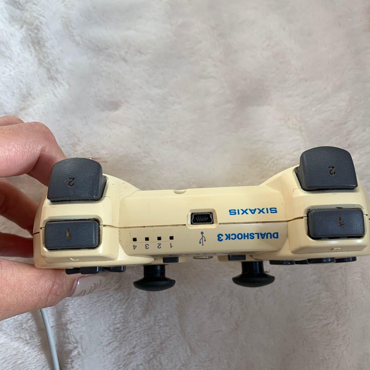 DUALSHOCK3 PS3 SONY コントローラー デュアルショック3 ホワイト PS3コントローラー ワイヤレスコントローラ