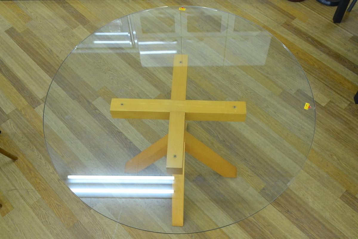 h708■Cassina ixc カッシーナイクスシー■ダイニングテーブル 5点セット■天板 直径Φ約1200mm_画像2