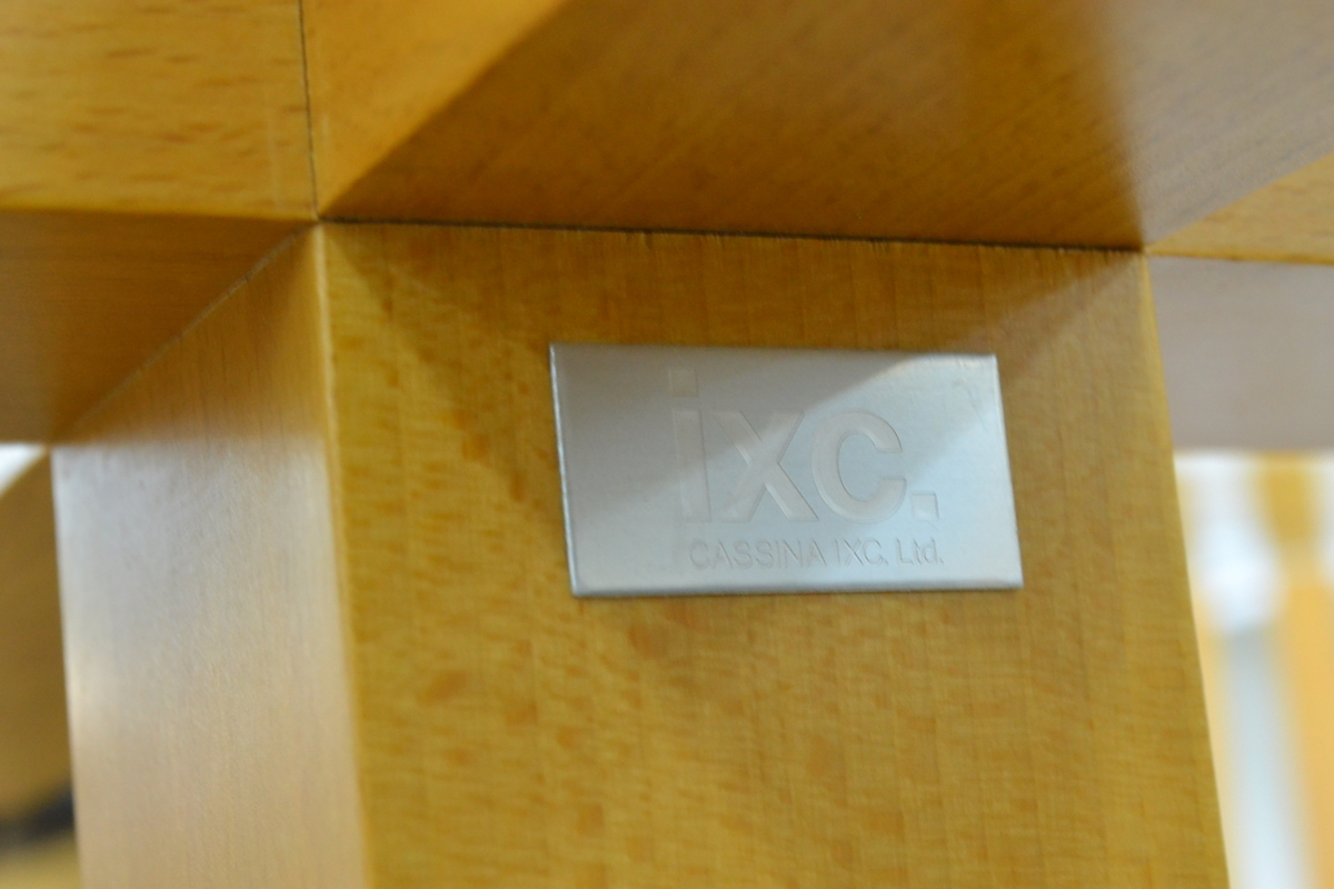h708■Cassina ixc カッシーナイクスシー■ダイニングテーブル 5点セット■天板 直径Φ約1200mm_画像9