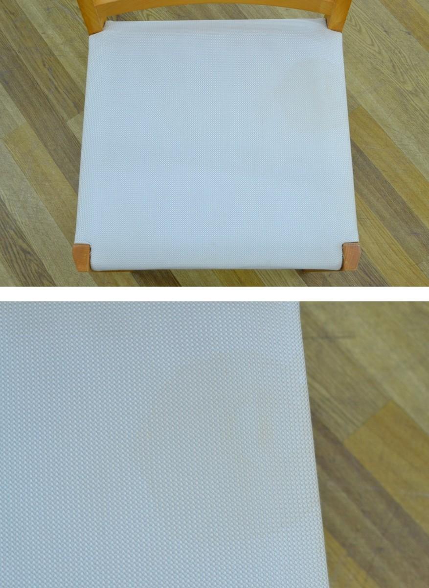 h708■Cassina ixc カッシーナイクスシー■ダイニングテーブル 5点セット■天板 直径Φ約1200mm_シミがございます。