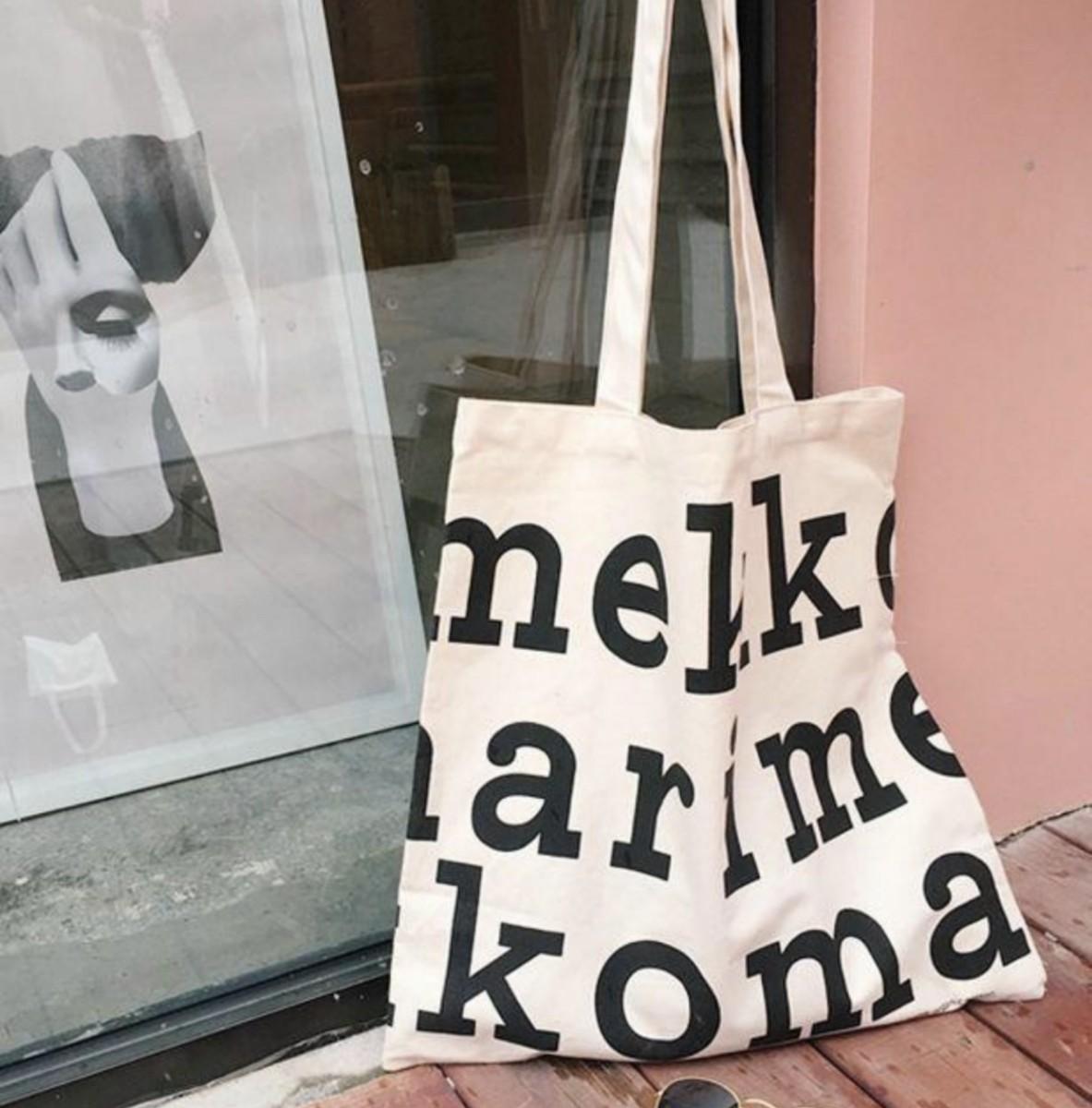marimekko マリメッコ ロゴ トートバッグ  マザーズバッグ エコバッグ
