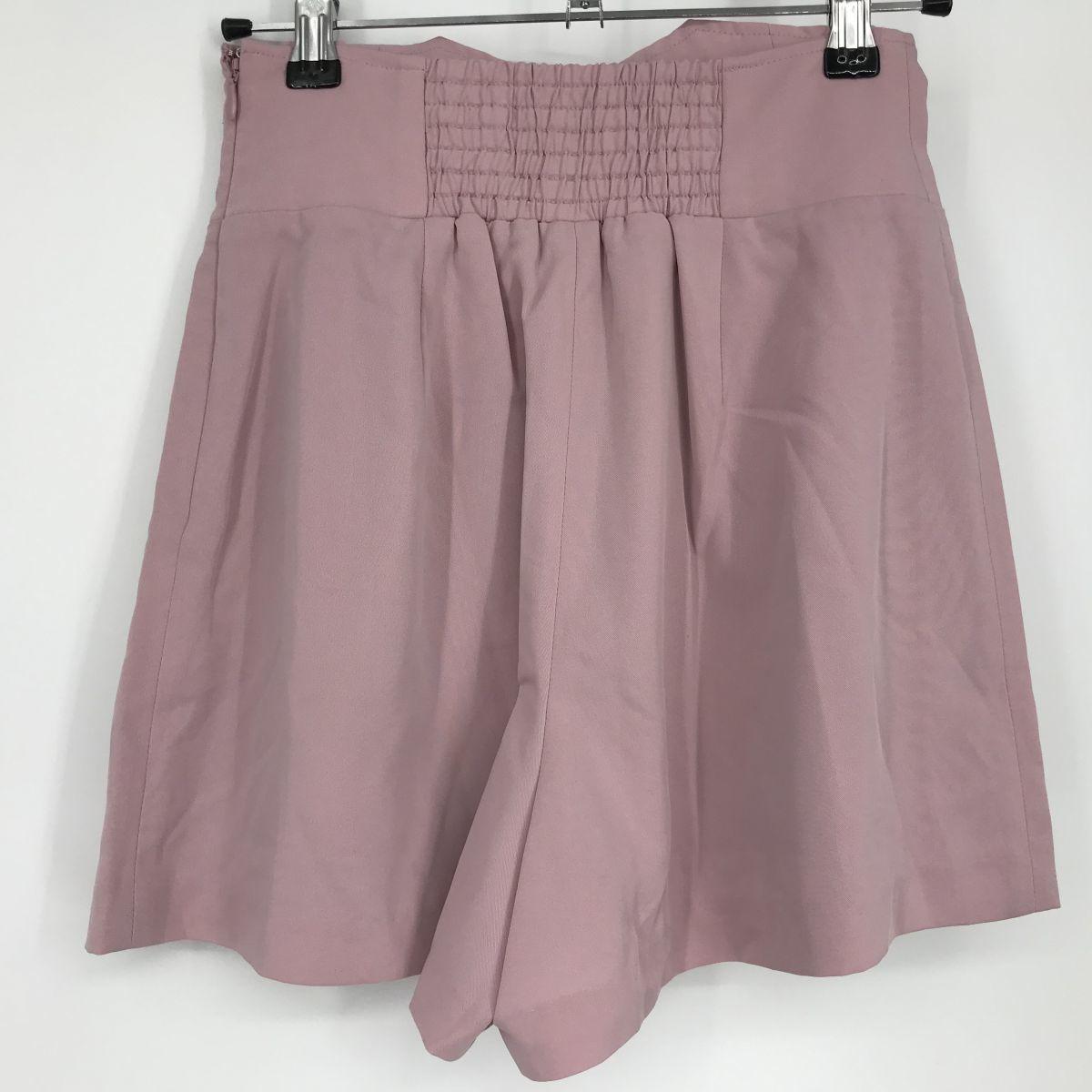 N518 rienda リエンダ キュロットスカート ベビーピンク Sサイズ  _画像2
