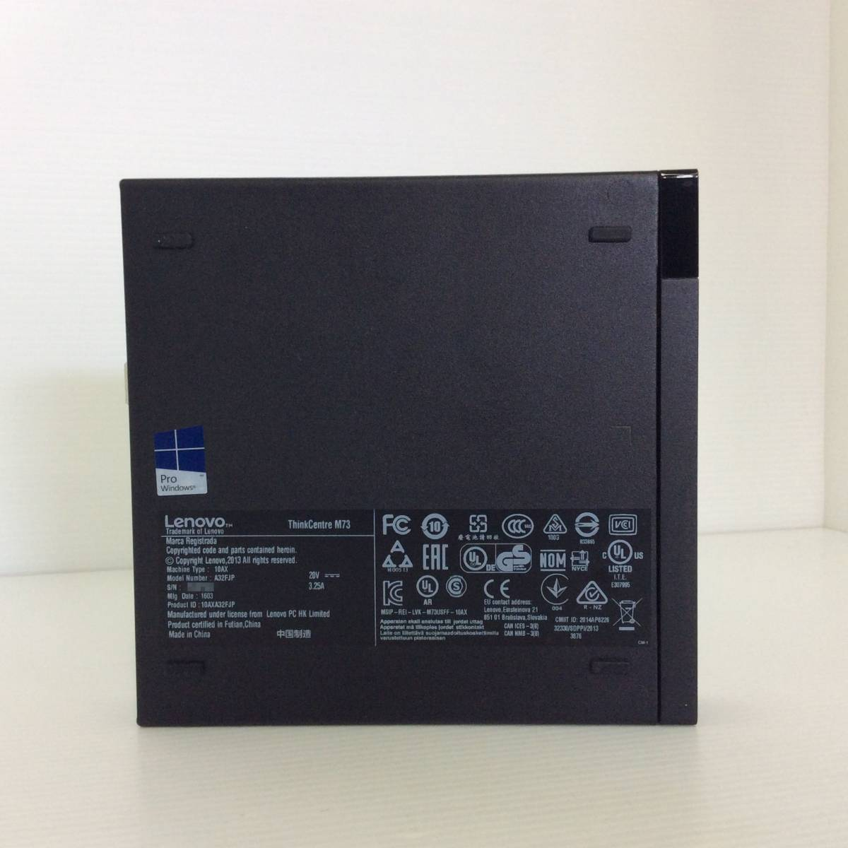 Lenovo ( レノボ ) ThinkCentre M73 10AX-A32FJP / Intel Core i3-4160T 3.10GHz / 2GB / HDDなし R420(H2011-0022)_画像5