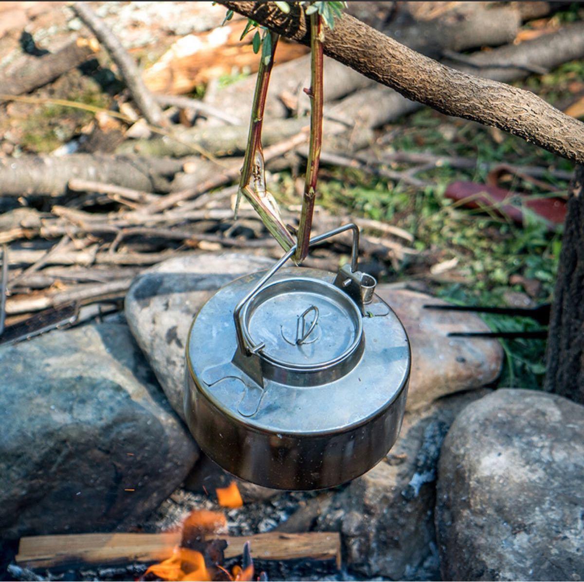 キャンプ用ステンレス製ケトル・クッカーセット