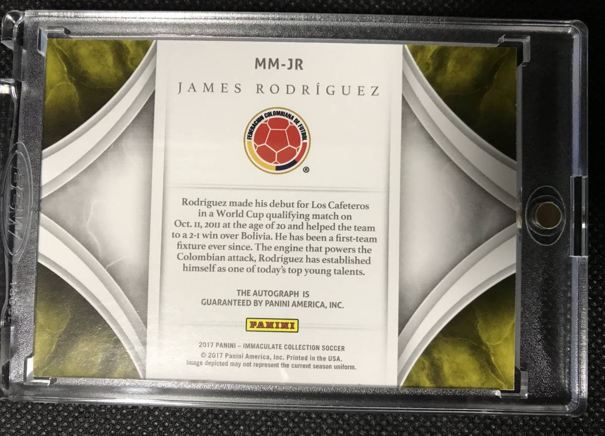 James Rodriguez ハメス 2017 Panini Immaculate Collection Soccerイマキュレ MODERN MARKS auto CARD 直筆サインカード /25限定☆_画像2