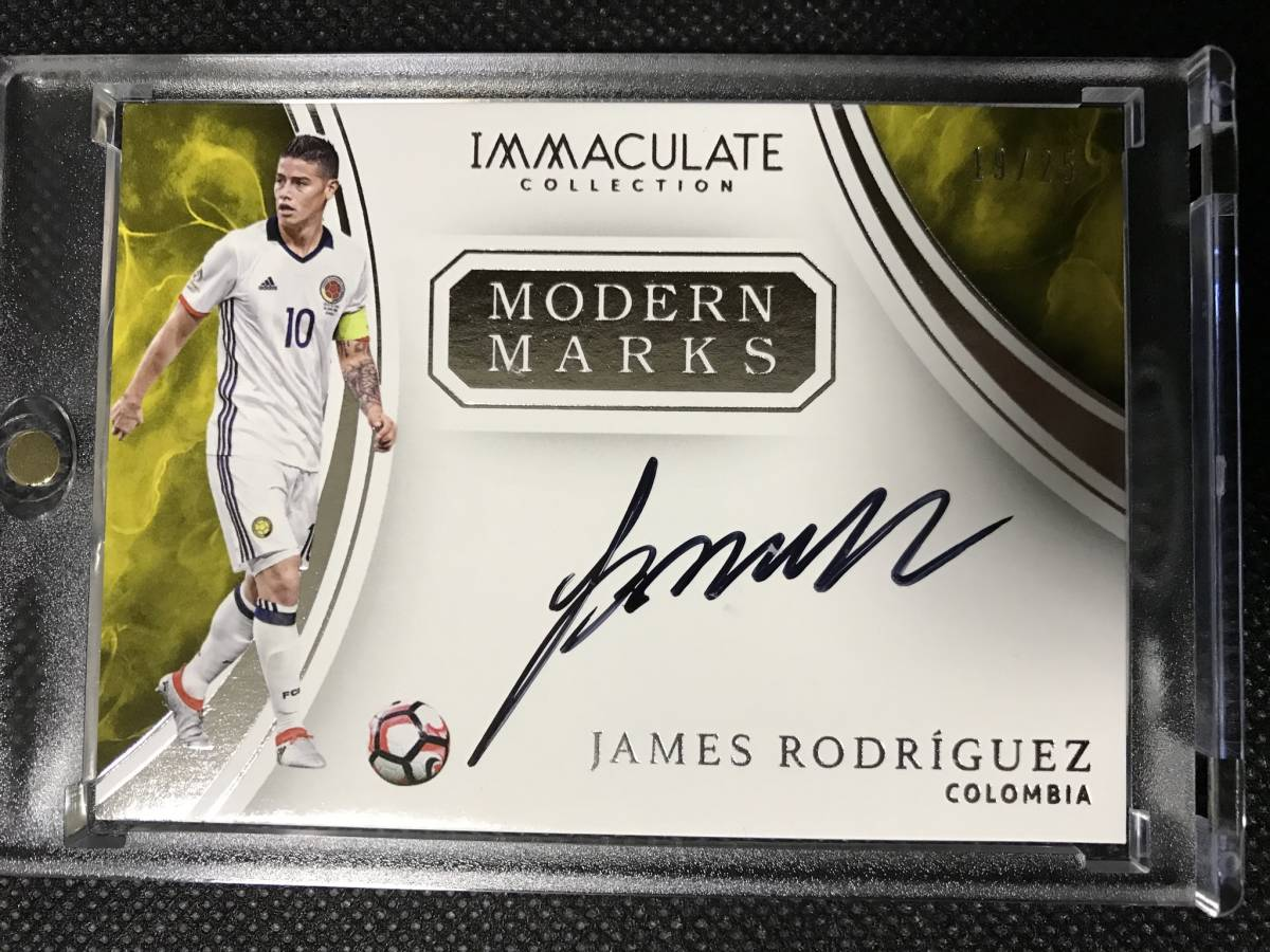 James Rodriguez ハメス 2017 Panini Immaculate Collection Soccerイマキュレ MODERN MARKS auto CARD 直筆サインカード /25限定☆_画像1