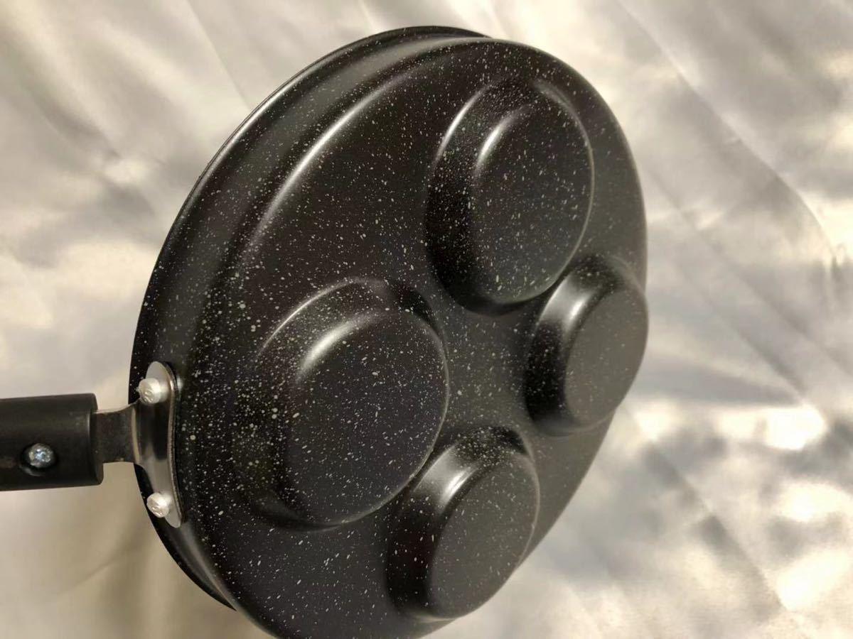 フォーズフライパン 4穴目玉焼きガス火&IH対応フライパン24cm