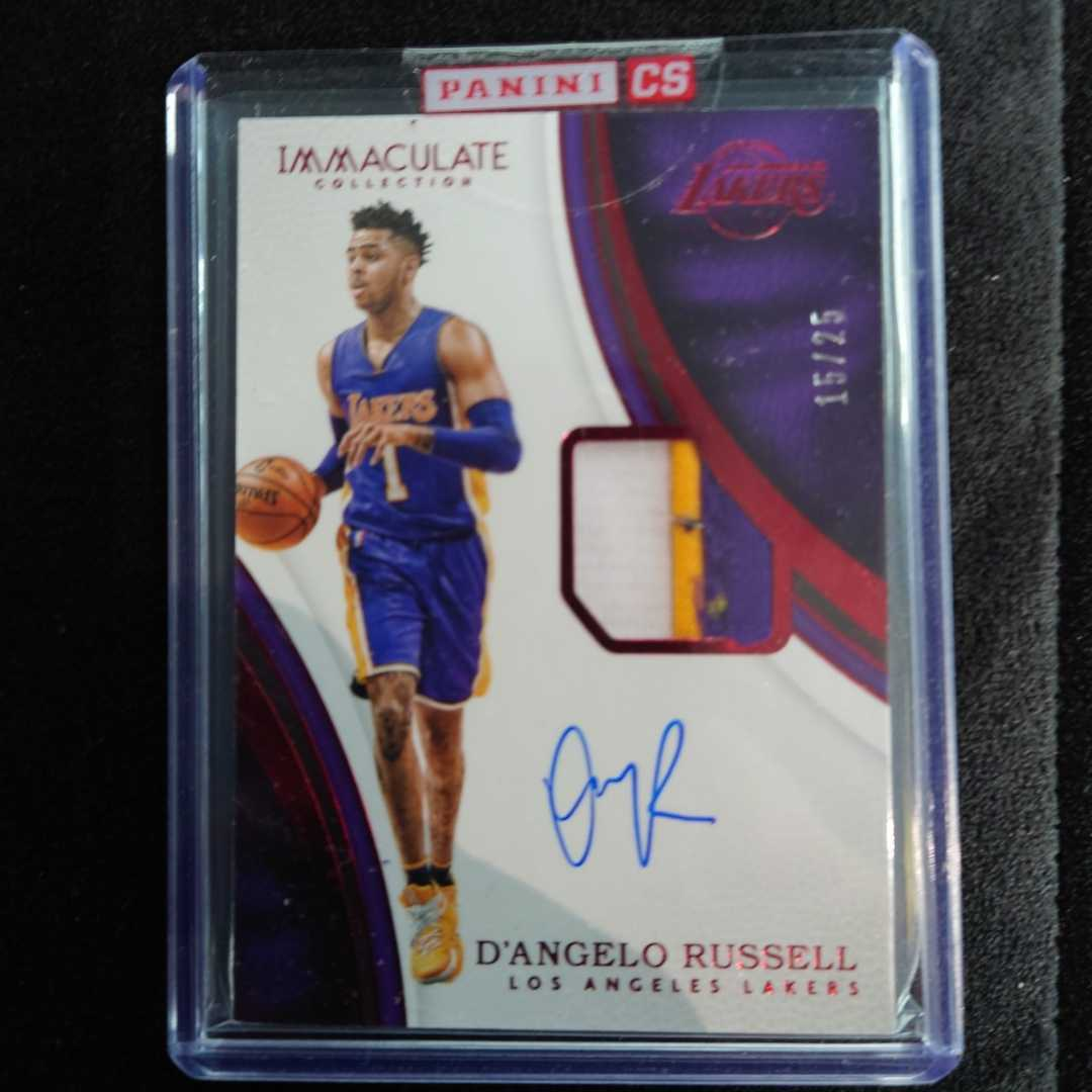 2016-17 Panini Immaculate NBA D'ANGELO RUSSELL 25枚限定_画像1