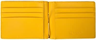 イエロー [レガーレ] 小銭入れ付き マネークリップ 本革 メンズ 財布 カードケース 札はさみ 二つ折り_画像9