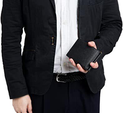 イエロー [レガーレ] 小銭入れ付き マネークリップ 本革 メンズ 財布 カードケース 札はさみ 二つ折り_画像8