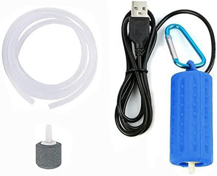 「3.ブルー AMYSPORTS エアーポンプ 酸素提供ポンプ 携帯式エアーポンプ 釣りポンプ 乾電池式ポンプ ブクブク 逆流防止」の画像1