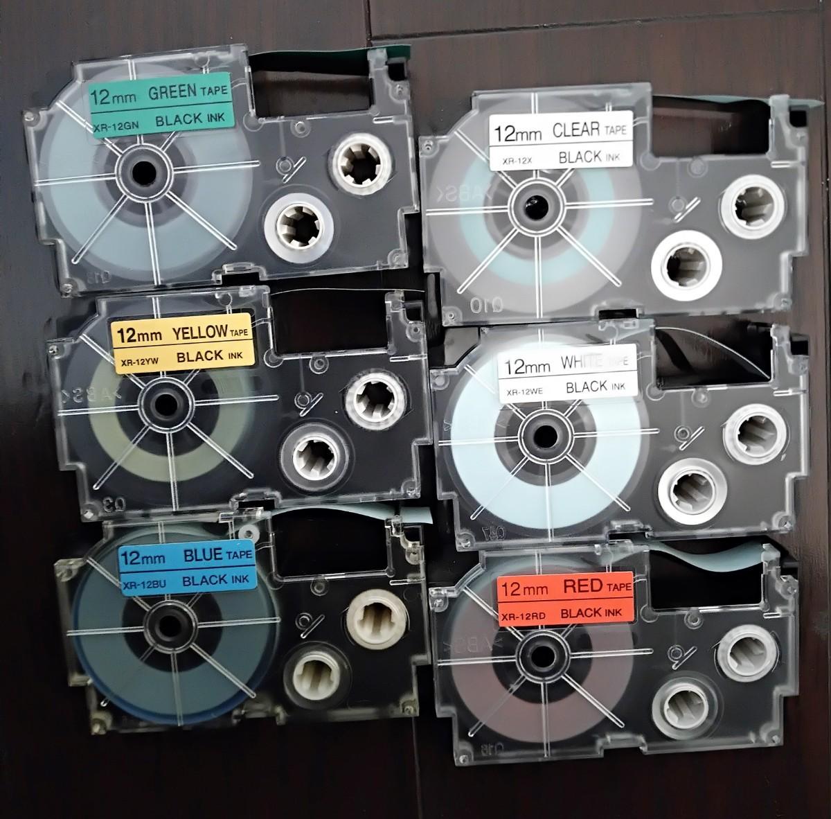 カシオ ネームランド テープ  中古6個セット