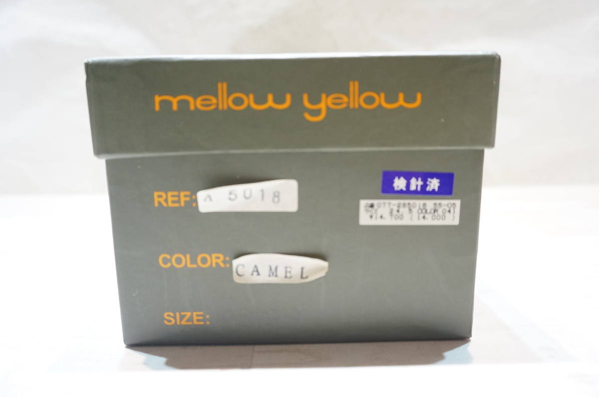 【OR25A】mellow yellow メローイエロー 24.0cm キャメル パンプス 中古品_画像9
