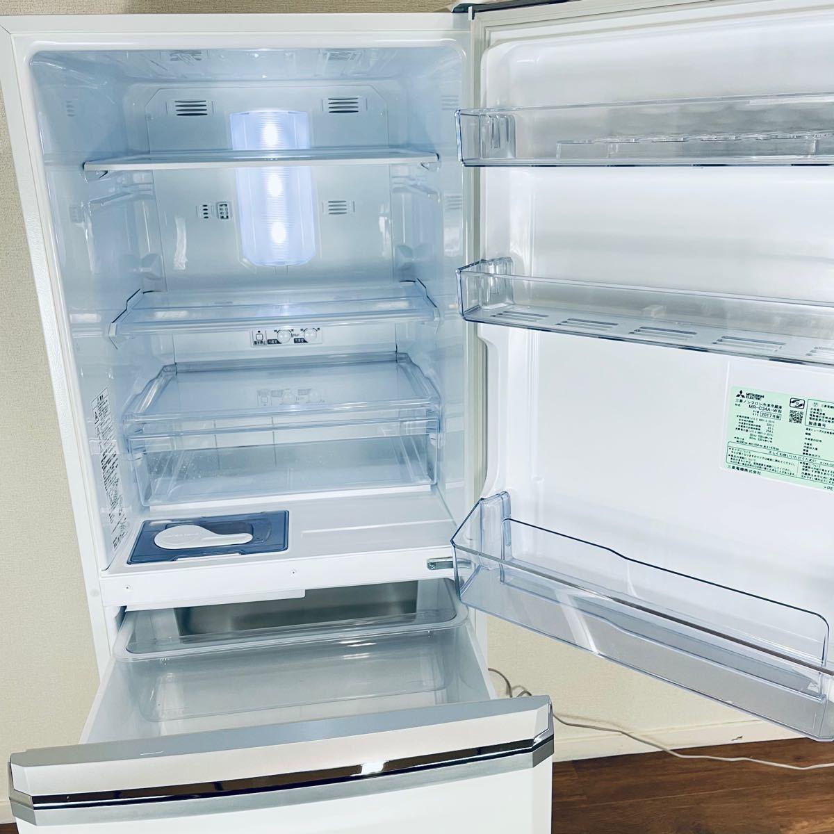 三菱 MITSUBISHI ノンフロン冷凍冷蔵庫 MR-C34A-W 335L