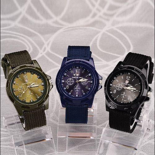 Hh007:◇最安値に自信◇ 男性ナイロンバンド軍用時計 Gemius アーミー腕時計高品質クォーツムーブメントメンズスポーツウォッチ カジュアル_画像2