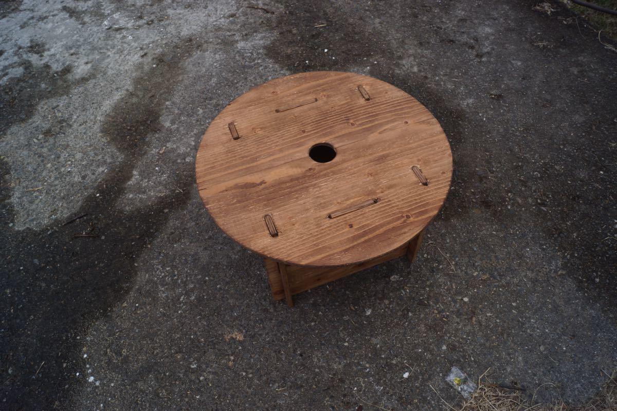ワンポール用 丸テーブル ウォールナット