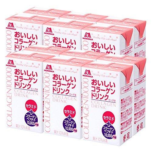 森永製菓 ピーチ味 ビタミンC おいしいコラーゲンドリンク 美容 コラーゲン [ セラミド 125ml×12本 ビタ_画像1