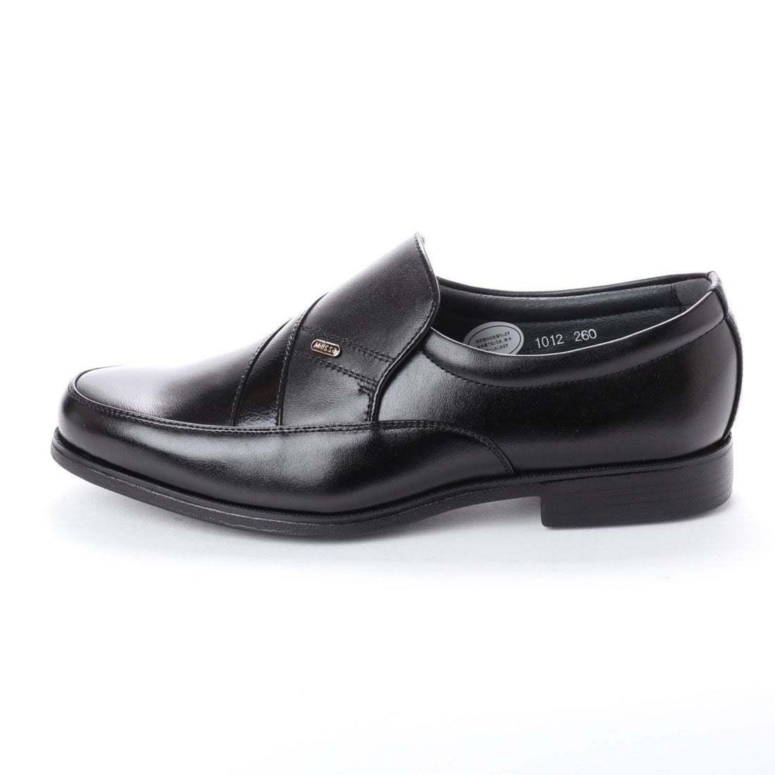 【安い】 超軽量 紳士靴 メンズ ビジネスシューズ スリッポン ウォーキングシューズ 幅広 4E 抗菌 防臭 1012 ブラック 黒 24.0cm