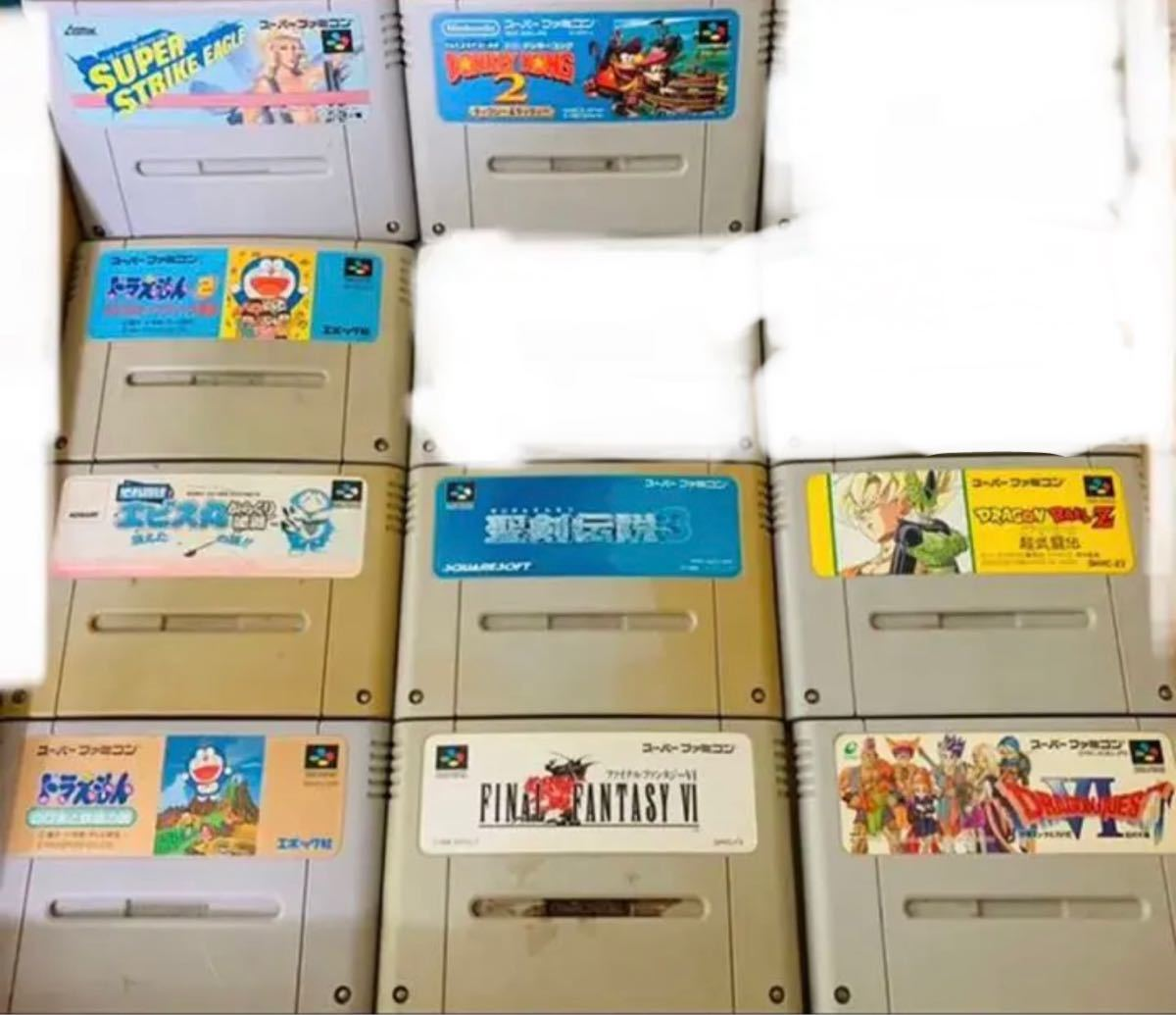 ファミリーコンピュータ SFC スーパーファミコンソフト 26セット価格 中古品