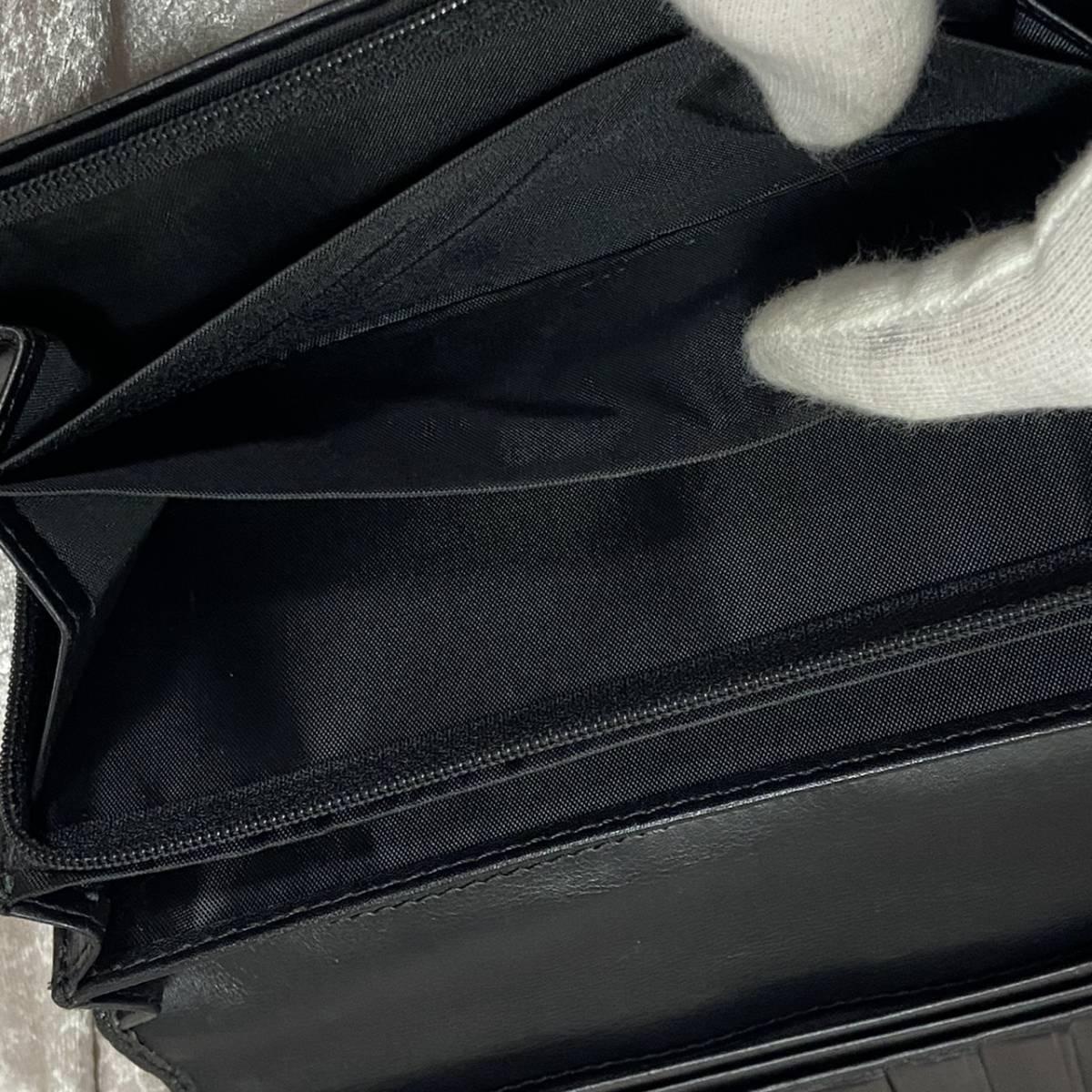 ☆美品☆Vivienne Westwood ヴィヴィアンウエストウッド 長財布 オーブ レザー 型押し 黒 ブラック ゴールド ロゴ メンズ レディース