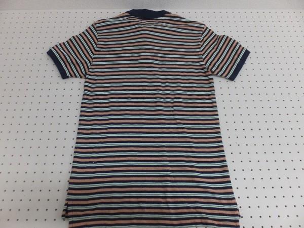 〈送料280円〉Polo by Ralph Lauren ラルフローレン メンズ キッズ ワンポイント刺繍 ボーダー 半袖ポロシャツ XL(20) 紺MIX_画像3
