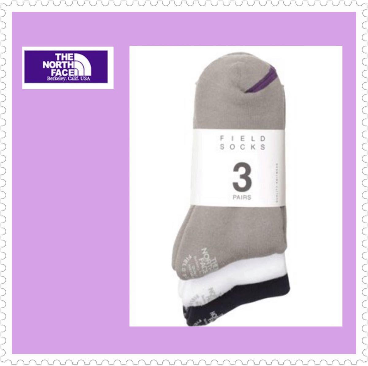 ☆THE NORTH FACE☆ザ ノースフェイス☆NN8962N フィールドソックス 3色セット 靴下