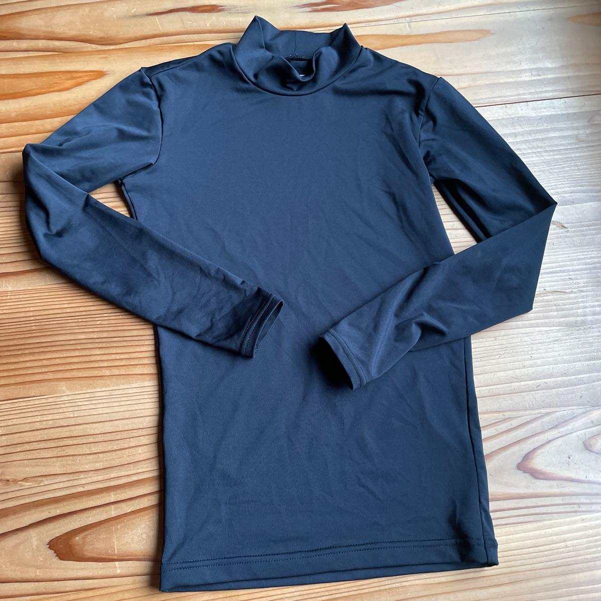 インナーシャツ アンダーシャツ トレーニング サッカー  ジュニア 黒 150