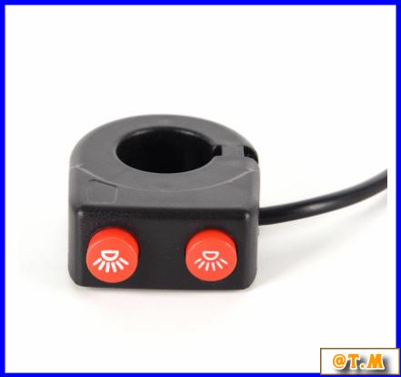 K-166 バイク ハンドルバー ライトスイッチ on offボタン ヘッドスポット フォグ_画像4