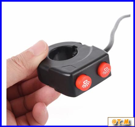 K-166 バイク ハンドルバー ライトスイッチ on offボタン ヘッドスポット フォグ_画像3