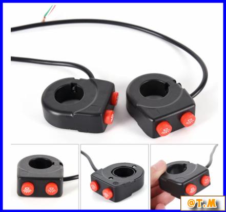 K-166 バイク ハンドルバー ライトスイッチ on offボタン ヘッドスポット フォグ_画像1
