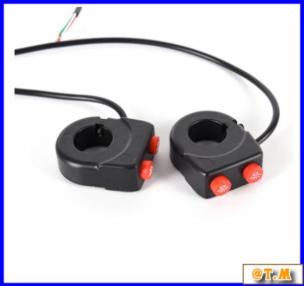 K-166 バイク ハンドルバー ライトスイッチ on offボタン ヘッドスポット フォグ_画像6